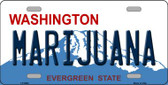 Marijuana Washington Background Novelty Metal License Plate