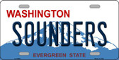 Sounders Washington Background Novelty Metal License Plate