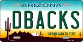 Dbacks Arizona State Background Novelty Metal License Plate