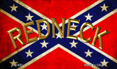 Confederate Redneck Novelty Metal Magnet