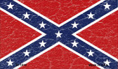 Confederate Flag Distressed Novelty Metal Magnet