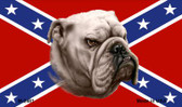 Rebel Bulldog Novelty Metal Magnet