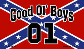 Good Ol Boys On Confederate Flag Novelty Metal Magnet