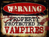 Vampires Metal Novelty Parking Sign