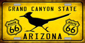 Arizona Grand Canyon With Route 66 Novelty Metal License Plate