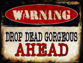 Drop Dead Gorgeous Metal Novelty Parking Sign