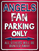 Angels Metal Novelty Parking Sign