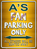 Athletics Metal Novelty Parking Sign