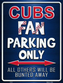 Cubs Metal Novelty Parking Sign