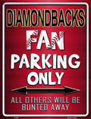 Diamondbacks Metal Novelty Parking Sign