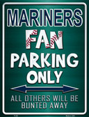 Mariners Metal Novelty Parking Sign