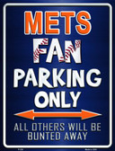 Mets Metal Novelty Parking Sign