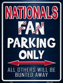 Nationals Metal Novelty Parking Sign