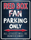 Red Sox Metal Novelty Parking Sign