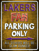 Lakers Metal Novelty Parking Sign