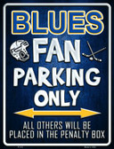 Blues Metal Novelty Parking Sign