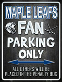 Maple Leafs Metal Novelty Parking Sign