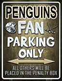 Penguins Metal Novelty Parking Sign
