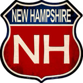 New Hampshire Metal Novelty Highway Shield