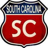 South Carolina Metal Novelty Highway Shield
