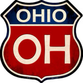Ohio Metal Novelty Highway Shield
