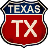 Texas Metal Novelty Highway Shield