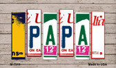 Papa License Plate Art Novelty Metal Magnet