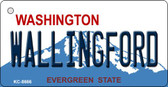 Wallingford Washington Background Novelty Metal Key Chain
