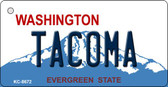 Tacoma Washington Background Novelty Metal Key Chain