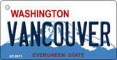 Vancouver Washington Background Novelty Metal Key Chain