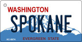 Spokane Washington Background Novelty Metal Key Chain