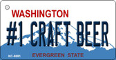 No 1 Craft Beer Washington Background Novelty Metal Key Chain