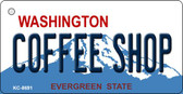 Coffee Shop Washington Background Novelty Metal Key Chain