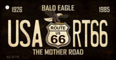 Bald Eagle Route 66 Novelty Metal Key Chain