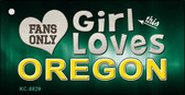 This Girl Loves Oregon Novelty Metal Key Chain