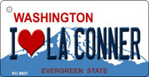 I love La Conner Washington Background Novelty Metal Key Chain