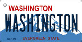 Washington State Background Novelty Metal Key Chain