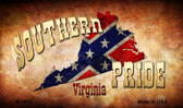 Southern Pride Virginia Novelty Metal Magnet
