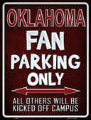 Oklahoma Metal Novelty Parking Sign