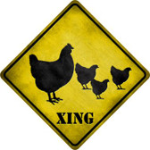 Chicken Xing Novelty Metal Crossing Sign