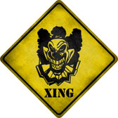 Clown Killer Xing Novelty Metal Crossing Sign