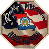 Missouri Home Grown Metal Novelty Stop Sign