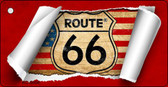 Route 66 Scroll Novelty Key Chain