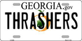 Thrashers Georgia Novelty State Background Metal License Plate