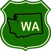 WA State Metal Novelty Highway Shield