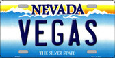 Vegas Nevada Background Novelty Metal License Plate