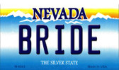 Bride Nevada Background Novelty Metal Magnet