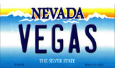 Vegas Nevada Background Novelty Metal Magnet