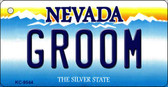 Groom Nevada Background Novelty Key Chain