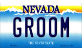 Groom Nevada Background Novelty Metal Magnet